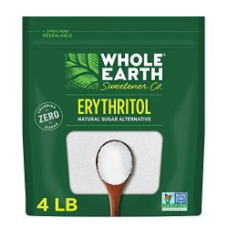 WHOLE EARTH 100% Erythritol Zero Calorie Plant-Based Sugar Alternative, 4 Pound Pouch