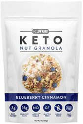 Low Karb – Keto Blueberry Nut Granola Healthy Breakfast Cereal – Low Carb Snacks & Food – 3g Net Carbs – Almonds, Pecans, Coconut and more (11 oz) (1 Count)