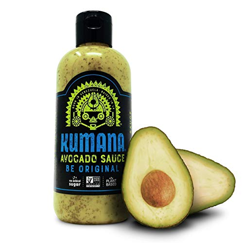 Kumana Avocado Sauce, Original Jalapeño. A Keto Friendly Hot Sauce made with Ripe Avocados and Chili Peppers. Ketogenic and Paleo. Sugar Free, Gluten Free and Low Carb. 13.1 Ounce Bottle.