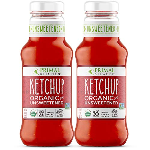 Primal Kitchen Organic Unsweetened Ketchup, Whole 30 Approved, Paleo & Keto Friendly (11.3 Ounce Bottle) – Two Pack
