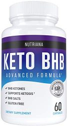 Nutriana Keto Diet Pills – Ketogenic Keto Pills for Women and Men – Keto Supplement BHB Salts – Keto Fast Exogenous Ketones – Ketosis Keto BHB Pills 60 Capsules 30 Day Supply