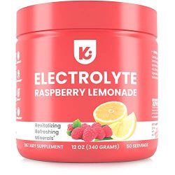 Keto Electrolytes Powder Advanced Hydration – Stay Healthy, Stay Hydrated, 50 Servings, Raspberry Lemonade Electrolyte Supplement, Boost Energy, NO Maltodextrin Sugar Free Electrolyte Powder