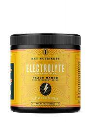 Electrolyte Powder, Peach Mango Hydration Supplement: 90 Servings, Carb, Calorie & Sugar Free, Delicious Keto Replenishment Drink Mix. 6 Key Electrolytes – Magnesium, Potassium, Calcium & More.
