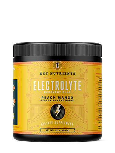 Electrolyte Powder, Peach Mango Hydration Supplement: 90 Servings, Carb, Calorie & Sugar Free, Delicious Keto Replenishment Drink Mix. 6 Key Electrolytes – Magnesium, Potassium, Calcium & More.
