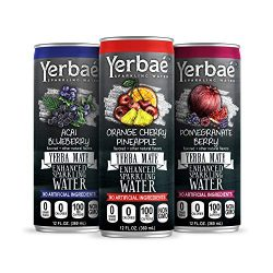 Yerbae Sparkling Water with Yerba Mate Tea – Natural Energy Drink with Caffeine & Antioxidants – Zero Sugar, No Calories, Keto & Whole 30, Non-GMO Seltzers (Variety 12 Pack of 12oz Cans)
