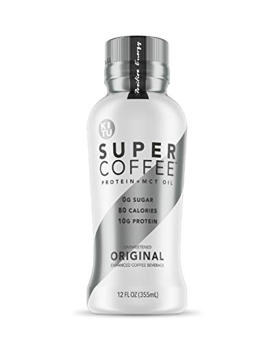 Kitu Super Coffee, SugarFree Keto Coffee (0g Sugar, 10g Protein, 80 Calories) [Original] 12 Fl Oz, 6 Pack | Iced Coffee, Protein Coffee, Coffee Drinks – From The Super Coffee Family