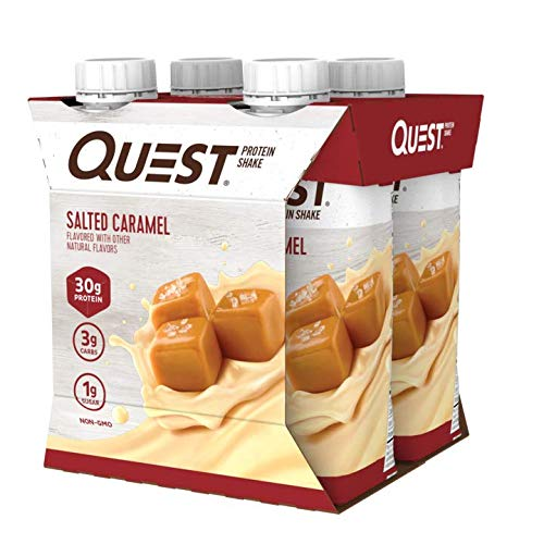Quest Nutrition Ready to Drink Salted Caramel Protein Shake, High Protein, Low Carb, Gluten Free, Keto Friendly, 12Count