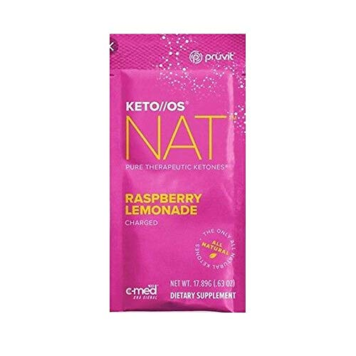 Pruvit Keto//OS NAT Raspberry Lemonade Charged, BHB Salts Ketogenic Supplement – Beta Hydroxybutyrates Exogenous Ketones for Fat Loss (Keto OS NAT Raspberry Lemonade, 20 Sachets)