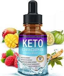 Keto Diet Drops Weight Loss Ketogenic Supplement – Premium Fat Burner Formula to Boost Metabolism, Suppress Appetite & Cravings, Better Absorption Liquid, Garcinia Cambogia, Effective for Men & Women