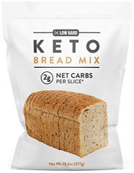 Low Karb – Keto Bread Mix – Only 2g Net Carbs per slice – Makes 1 Large Loaf – Low Carb Food – Easy Baking (13.3 oz) (1 Count)