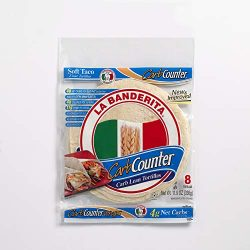 La Banderita® Carb Counter Flour Tortillas | 8″ Size | 8 Count Each Pack | 4 Pack Case | *Taste the Tradition.