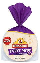 Mission Street Taco Flour Tortillas, Trans Fat Free, Mini Soft Taco Size, 12 Count