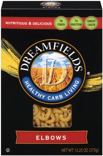 Dreamfields Pasta Healthy Carb Living, Elbow Macaroni, 13.25-Ounce Boxes