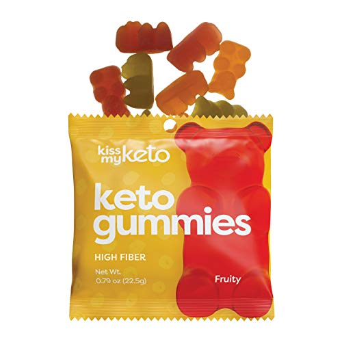 Kiss My Keto Gummies with MCT Oil – Low Carb Candy – Smart Keto Friendly Snacks – Low Sugar & Gluten Free – Only 3g Net Carbs, 12-Pack
