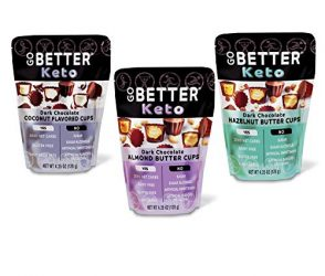 GO BETTER Keto Cups | Almond Butter | Zero Net Carbs, Gluten Free, No Sugar, No Artificial Sweeteners, Keto Chocolate | 2 Bags (Variety 3 Pack)