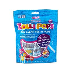 Zollipops Clean Teeth Lollipops | Anti-Cavity, Sugar Free Candy with Xylitol for a Healthy Smile – Great for Kids, Diabetics and Keto Diet (3.1 oz Bag)