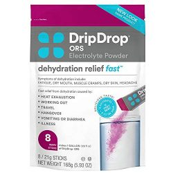 DripDrop ORS Electrolyte Hydration Powder Sticks, Berry, 21g Sticks, 8 Count