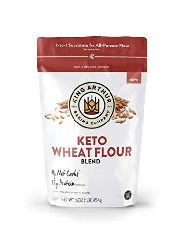 King Arthur, Keto Wheat Flour Blend, Non-GMO Project Verified, 1-to-1 Substitute for All- Purpose Flour, 16 Ounces