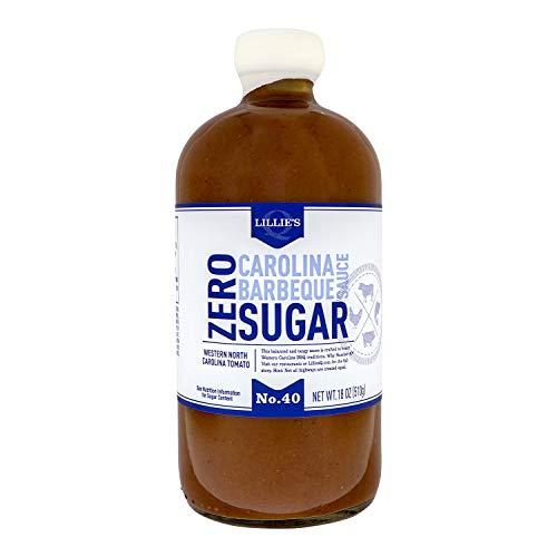 Lillie's Q – Zero Sugar Carolina Barbeque Sauce, Gourmet Carolina Sauce, Tangy BBQ Sauce with Tomato Vinegar, Sugar-Free Sauce, Keto-Friendly, Made with Gluten-Free Ingredients (18 oz)