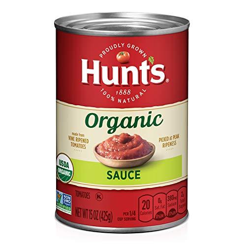 Hunt's Organic Tomato Sauce, Keto Friendly, 15 oz, 12 Pack