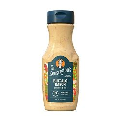 Sir Kensington's Ranch Dressing and Dip, Buffalo Ranch, Sugar Free, Dairy Free, Keto Certified, Paleo Certified, Non-GMO Project Verified, , 9 Ounce (Pack of 6)